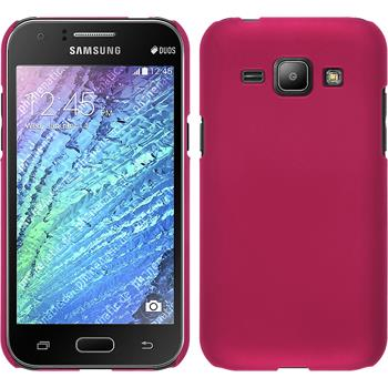 Hardcase for Samsung Galaxy J1 rubberized hot pink