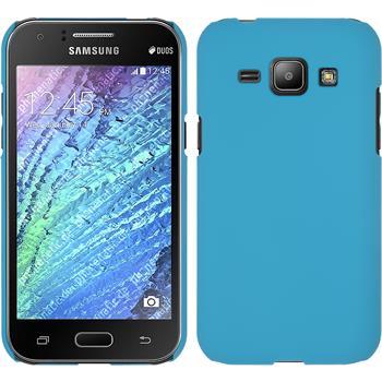 Hardcase for Samsung Galaxy J1 rubberized light blue