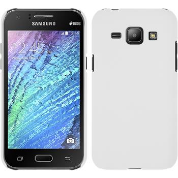 Hardcase for Samsung Galaxy J1 rubberized white