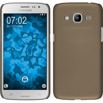 Hardcase for Samsung Galaxy J2 (2016) rubberized gold