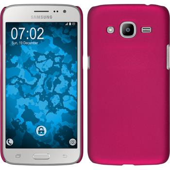 Hardcase for Samsung Galaxy J2 (2016) rubberized hot pink