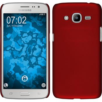 Hardcase for Samsung Galaxy J2 (2016) rubberized red