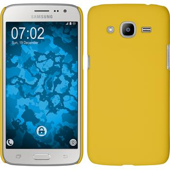 Hardcase for Samsung Galaxy J2 (2016) rubberized yellow