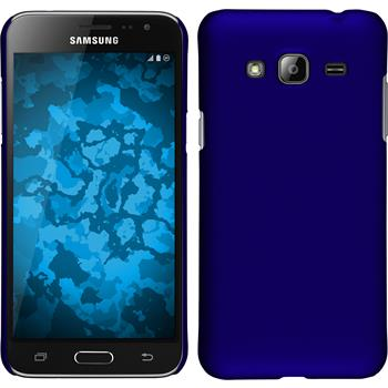 Hardcase for Samsung Galaxy J3 rubberized blue