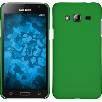 Hardcase for Samsung Galaxy J3 rubberized green