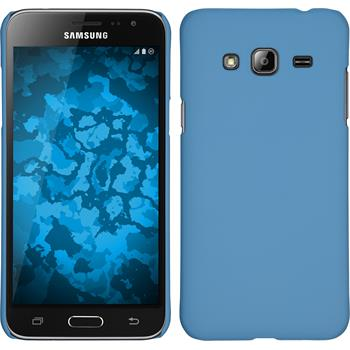 Hardcase for Samsung Galaxy J3 rubberized light blue