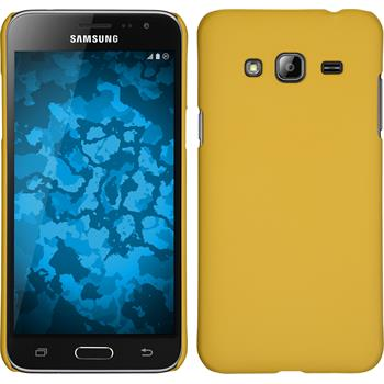 Hardcase for Samsung Galaxy J3 rubberized yellow