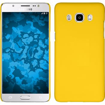 Hardcase for Samsung Galaxy J5 (2016) rubberized yellow