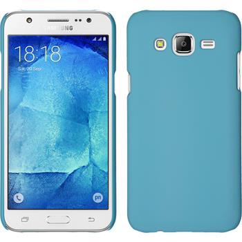 Hardcase for Samsung Galaxy J7 rubberized light blue