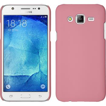 Hardcase for Samsung Galaxy J7 rubberized pink