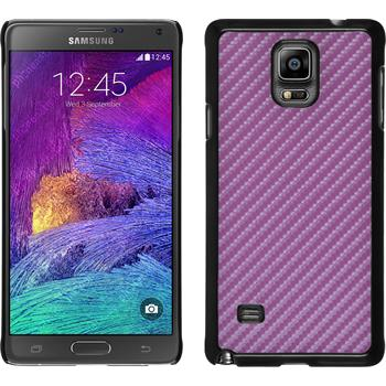 Hardcase for Samsung Galaxy Note 4 carbon optics hot pink