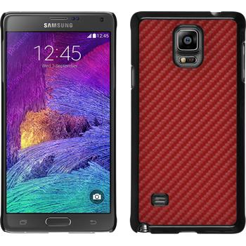 Hardcase for Samsung Galaxy Note 4 carbon optics red