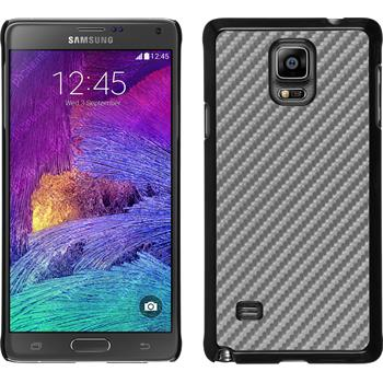Hardcase for Samsung Galaxy Note 4 carbon optics silver
