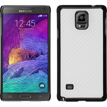 Hardcase for Samsung Galaxy Note 4 carbon optics white