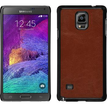 Hardcase for Samsung Galaxy Note 4 leather optics brown