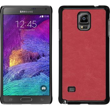 Hardcase for Samsung Galaxy Note 4 leather optics hot pink