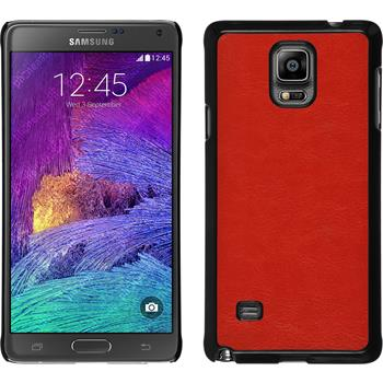 Hardcase for Samsung Galaxy Note 4 leather optics red