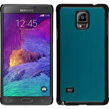 Hardcase for Samsung Galaxy Note 4 metallic light blue
