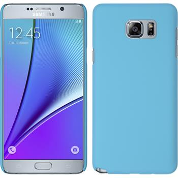 Hardcase for Samsung Galaxy Note 5 rubberized light blue