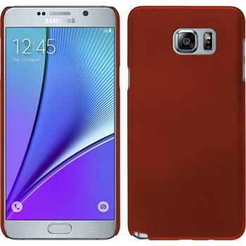 Hardcase for Samsung Galaxy Note 5 rubberized red