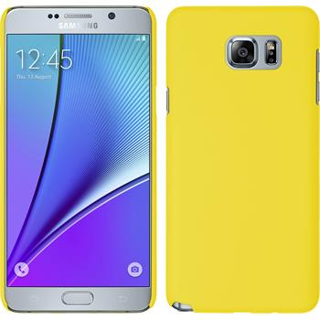 Hardcase for Samsung Galaxy Note 5 rubberized yellow
