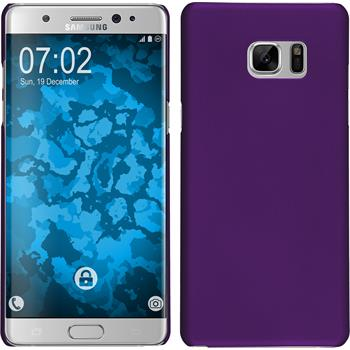 Hardcase for Samsung Galaxy Note 7 rubberized purple