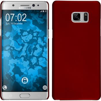 Hardcase for Samsung Galaxy Note 7 rubberized red