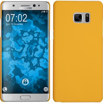 Hardcase for Samsung Galaxy Note 7 rubberized yellow