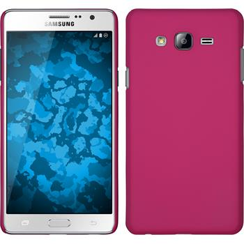 Hardcase for Samsung Galaxy On7 rubberized hot pink