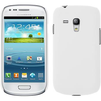 Hardcase for Samsung Galaxy S3 Mini rubberized white