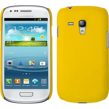 Hardcase for Samsung Galaxy S3 Mini rubberized yellow