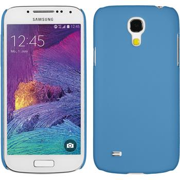 Hardcase for Samsung Galaxy S4 Mini Plus rubberized light blue