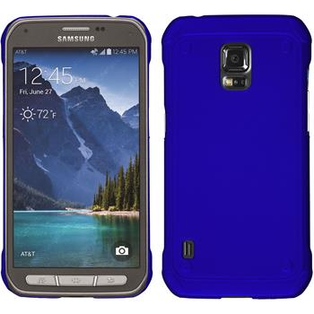 Hardcase for Samsung Galaxy S5 Active rubberized blue