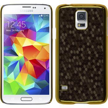 Hardcase for Samsung Galaxy S5 hexagon brown