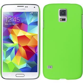 Hardcase for Samsung Galaxy S5 mini rubberized green