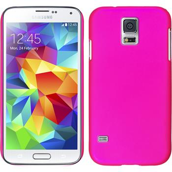 Hardcase for Samsung Galaxy S5 mini rubberized hot pink