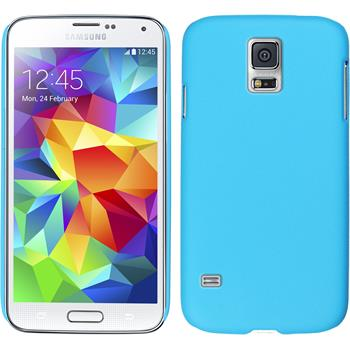 Hardcase for Samsung Galaxy S5 mini rubberized light blue