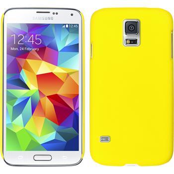 Hardcase for Samsung Galaxy S5 mini rubberized yellow