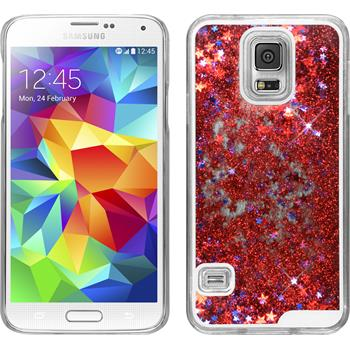 Hardcase for Samsung Galaxy S5 Neo Stardust red