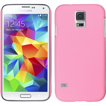 Hardcase for Samsung Galaxy S5 rubberized pink