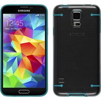 Hardcase for Samsung Galaxy S5 transparent turquoise