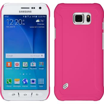 Hardcase for Samsung Galaxy S6 Active rubberized hot pink