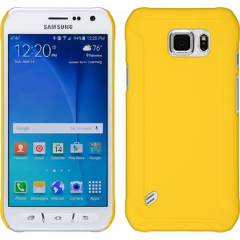 Hardcase for Samsung Galaxy S6 Active rubberized yellow