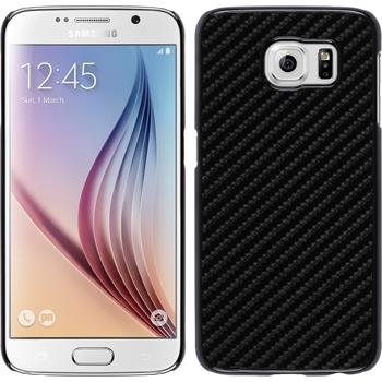 Hardcase for Samsung Galaxy S6 carbon optics black
