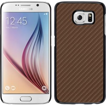 Hardcase for Samsung Galaxy S6 carbon optics bronze