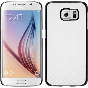 Hardcase for Samsung Galaxy S6 carbon optics white