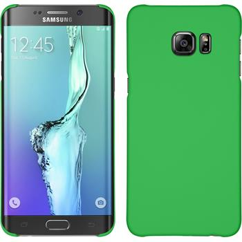 Hardcase for Samsung Galaxy S6 Edge Plus rubberized green