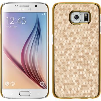 Hardcase for Samsung Galaxy S6 hexagon gold