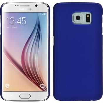 Hardcase for Samsung Galaxy S6 rubberized blue