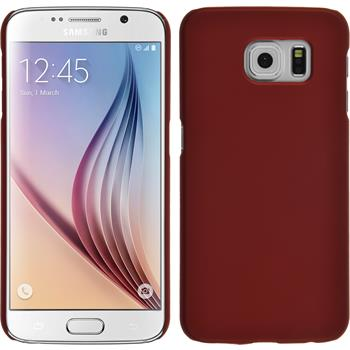 Hardcase for Samsung Galaxy S6 rubberized red